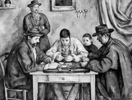 Kaartspelers in oude tijden