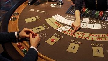 Blackjack tafel positie